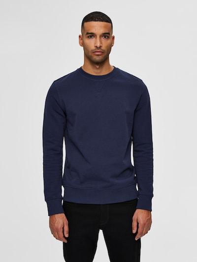 SELECTED HOMME Sweatshirt in dunkelblau: Frontalansicht