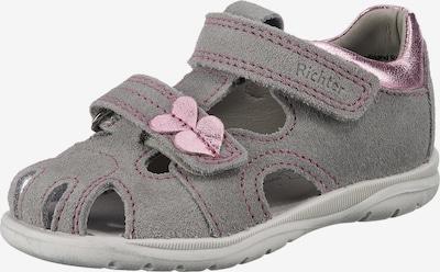 RICHTER Sandale in grau / rosa, Produktansicht