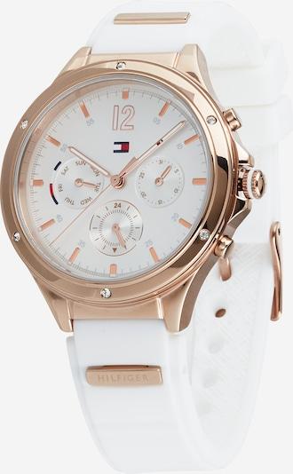 TOMMY HILFIGER Uhr 'Eve' in rosegold / naturweiß, Produktansicht