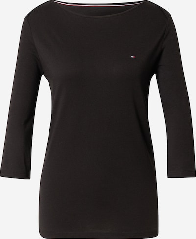 TOMMY HILFIGER Shirt 'ORG CO SLIM BOAT-NK TOP 3/4 SLV' in schwarz, Produktansicht