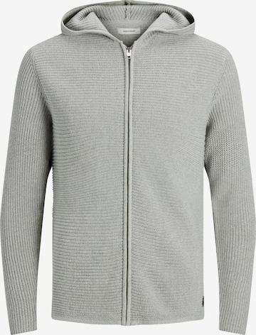 JACK & JONES Knit Cardigan in Grey