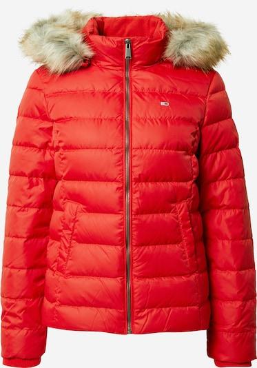 Tommy Jeans Veste d'hiver en rouge, Vue avec produit