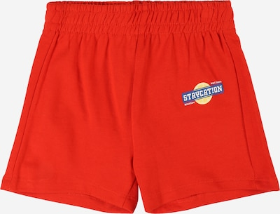 Gina Tricot Mini Shorts in himmelblau / hellgelb / hellrot / weiß, Produktansicht