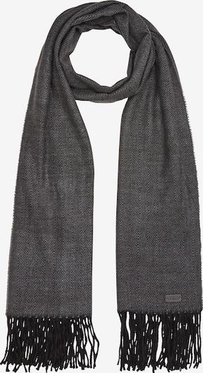 s.Oliver Schal in graumeliert / schwarz, Produktansicht