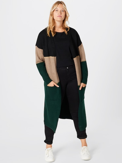 Guido Maria Kretschmer Curvy Collection Knitted Coat 'Adriana' in Green / Black, View model