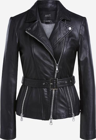 SET Lederjacke in schwarz, Produktansicht
