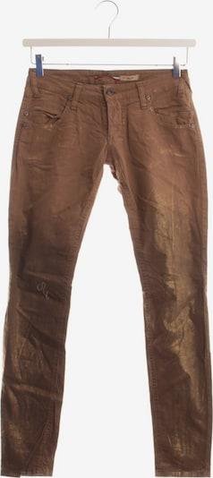 PLEASE Jeans in 25-26 in dunkelbeige / gold, Produktansicht