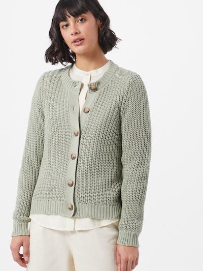 PIECES Strickjacke 'Petula' in pastellgrün, Modelansicht