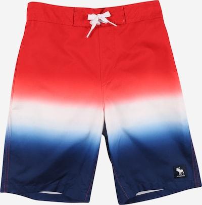 Pantaloncini da bagno Abercrombie & Fitch di colore blu notte / rosso / bianco, Visualizzazione prodotti