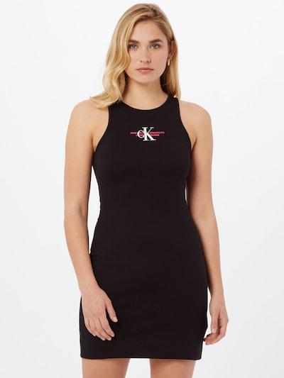 Calvin Klein Jeans Jurk in de kleur Pink / Zwart / Wit, Modelweergave