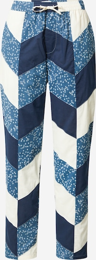 Lollys Laundry Hose 'Bill' in creme / marine / taubenblau, Produktansicht