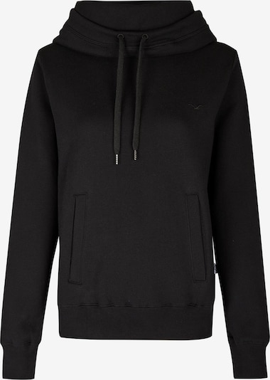 Cleptomanicx Sweater 'High Collar' in schwarz, Produktansicht