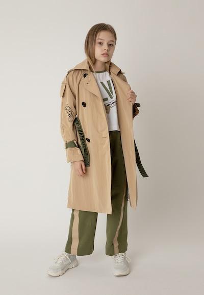 Gulliver Trenchcoat in beige / khaki / mischfarben / schwarz: Frontalansicht