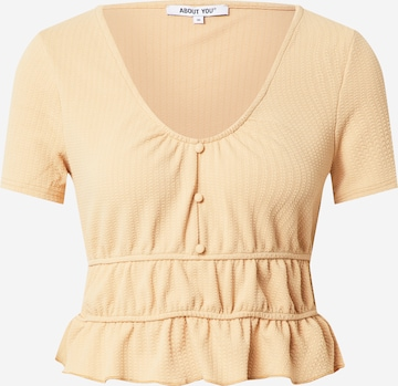 ABOUT YOU T-shirt 'Cindy' i beige