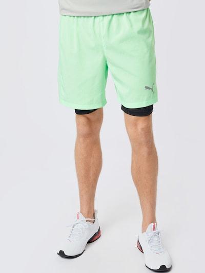 Pantaloni sport 'Favourite' PUMA pe verde deschis / negru: Privire frontală