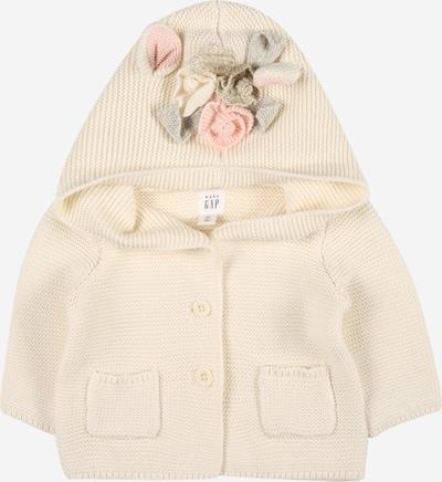 GAP Gebreid vest in de kleur Crème / Grijs / Rosa, Productweergave