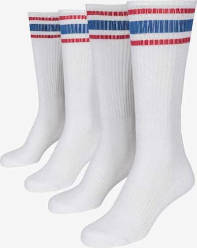 Urban Classics Sokken ' Long Stripe Socks 2-Pack ' in de kleur Wit, Productweergave