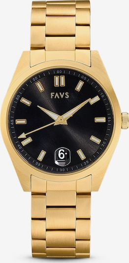 FAVS Uhr in gold / schwarz, Produktansicht