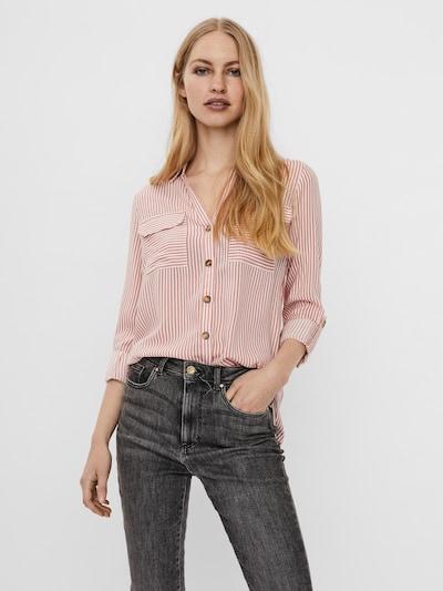 Camicia da donna 'Bumpy' VERO MODA di colore rosé / bianco, Visualizzazione modelli