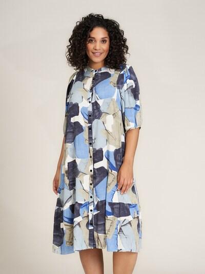 STUDIO Kleid 'Agnethe' in beige / blau / weiß, Modelansicht