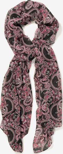 Ulla Popken Schal in pink / schwarz / weiß, Produktansicht