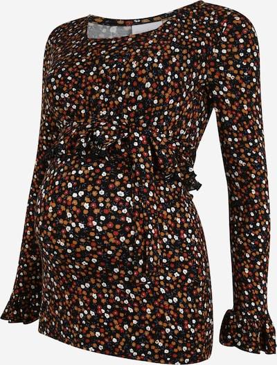 MAMALICIOUS Shirt 'TESS' in dunkelorange / rot / schwarz, Produktansicht
