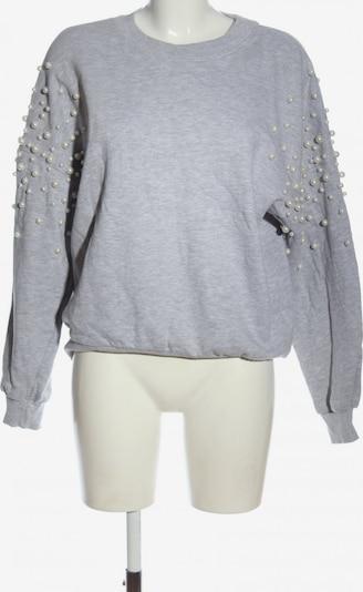 Bershka Sweatshirt in S in hellgrau, Produktansicht