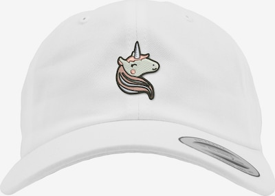 Mister Tee Pet 'Unicorn Dad Cap Kids' in de kleur Wit: Vooraanzicht