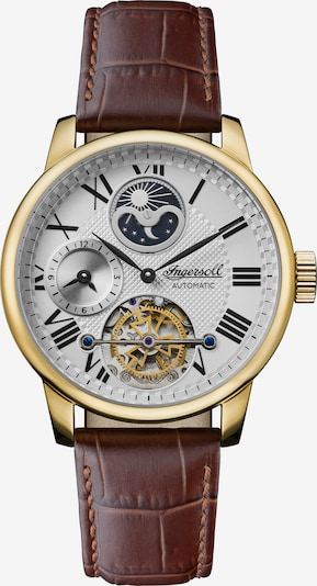 INGERSOLL Uhr 'THE JAZZ AUTOMATIC I07704' in braun / gold, Produktansicht