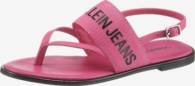 Calvin Klein Zehentrenner in pink / schwarz, Produktansicht