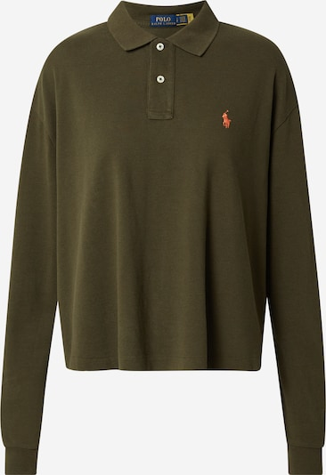 Polo Ralph Lauren T-shirt en vert foncé / orange, Vue avec produit