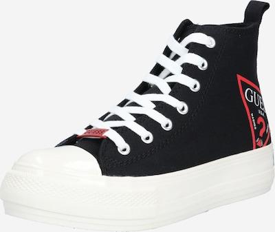 fekete / fehér GUESS Magas szárú edzőcipők 'NKA', Termék nézet