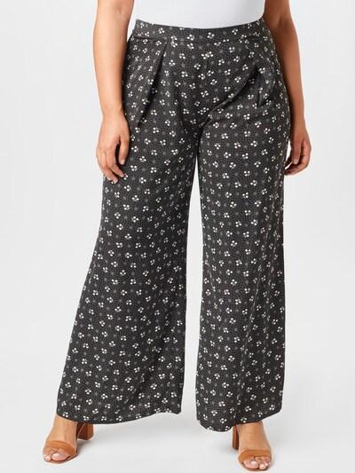 GLAMOROUS CURVE Pantalon à pince en gris / noir / blanc, Vue avec modèle