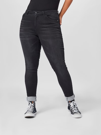 Džinsai iš ONLY Carmakoma , spalva - juodo džinso spalva, Modelio vaizdas