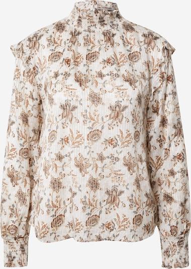s.Oliver BLACK LABEL Bluse in beige / rauchblau / braun / hellbraun, Produktansicht