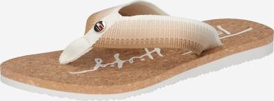 TOMMY HILFIGER T-bar sandals in Kitt / Light beige / Powder / White, Item view