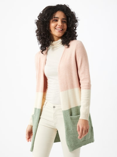 ONLY Cárdigan 'QUEEN' en beige / oliva / rosa claro, Vista del modelo