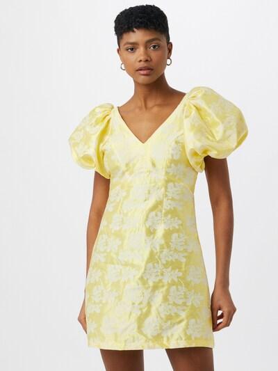 VILA Cocktailklänning 'Petia' i citron / vit, På modell
