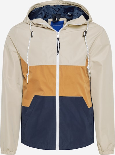 JACK & JONES Jacke 'LUKE' in beige / navy / braun, Produktansicht