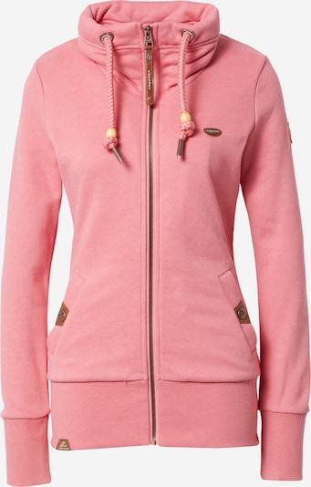 Ragwear Sweatjacke 'RYLIE' in rosa, Produktansicht