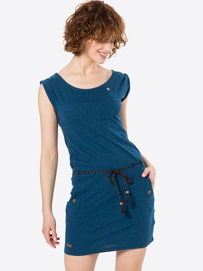 Ragwear Robe d'été 'Tag' en bleu chiné, Vue avec modèle