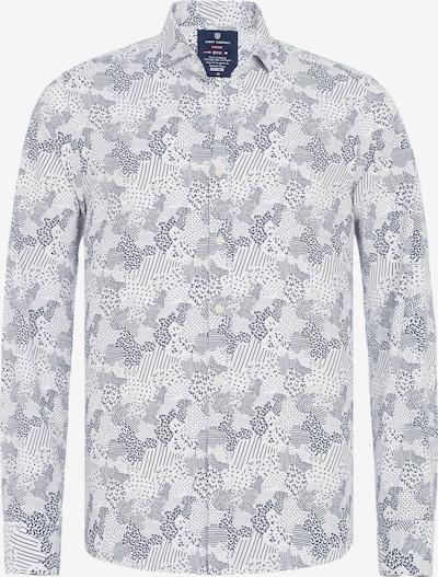 Jimmy Sanders Hemd in nachtblau / weiß, Produktansicht