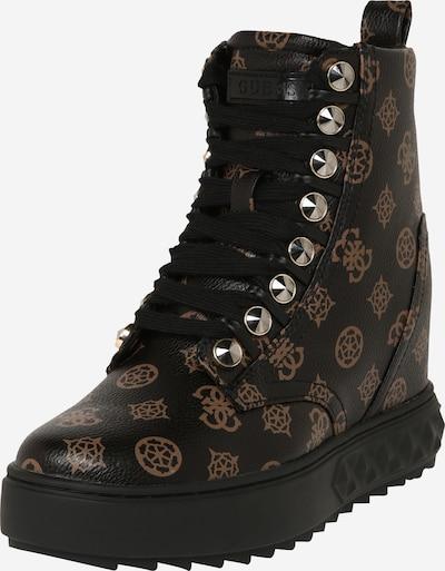 Suvarstomieji kulkšnis dengiantys batai iš GUESS , spalva - ruda / juoda, Prekių apžvalga