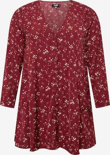 Missguided Plus Dolga srajca 'DITSY' | zelena / karminsko rdeča / bela barva, Prikaz izdelka