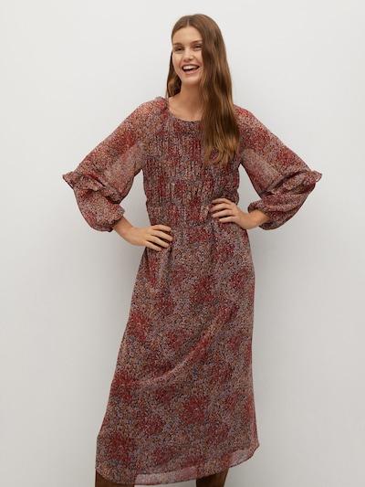 MANGO Kleid 'Nuria' in rostbraun / mischfarben, Modelansicht