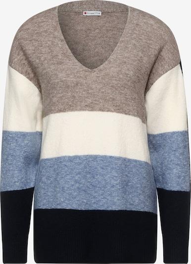 STREET ONE Pullover in beige / blau / nachtblau / weiß, Produktansicht