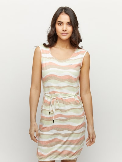 mazine Printed Dress ' Paulina ' in braun / mint / orange / offwhite, Modelansicht