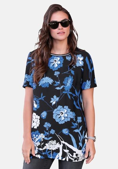 Emilia Lay Longbluse 1/2-Arm in blau / mischfarben / schwarz, Modelansicht