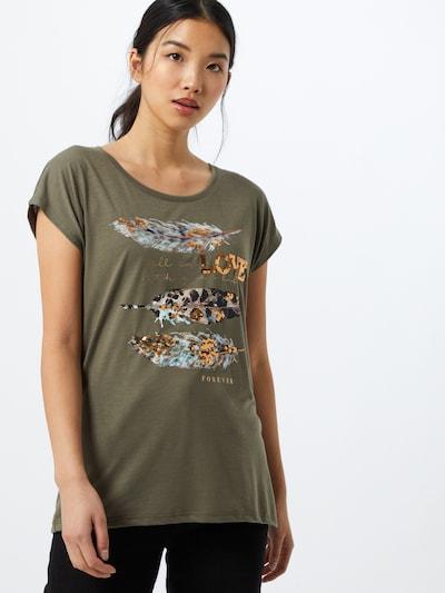 Marškinėliai 'Sana' iš Hailys , spalva - rusvai žalia / mišrios spalvos: Vaizdas iš priekio