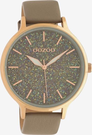 OOZOO Armbanduhr in rosegold / oliv, Produktansicht